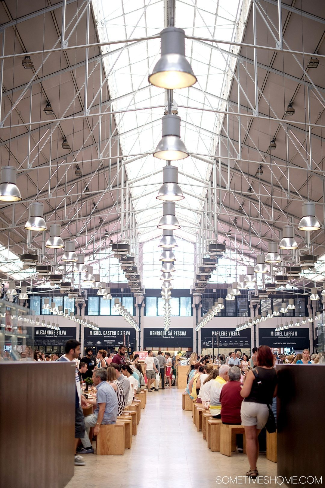 Why Lisbon is the Best City in Europe on Sometimes Home travel blog. Photo of Time Out food hall.