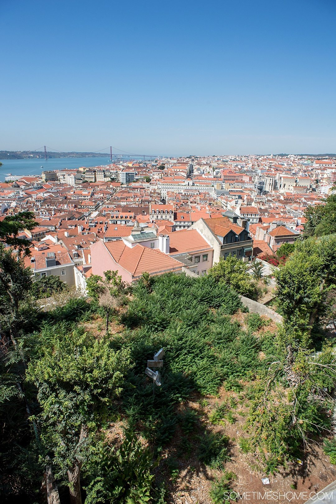 Why Lisbon is the Best City in Europe on Sometimes Home travel blog. Aerial view photo from Sao Jorge Castle.