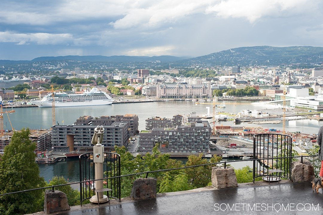 10 Not-to-Miss Sites in Oslo Norway by Sometimes Home travel blog. Photo of the view from the top of Ekebergparken free sculpture park.