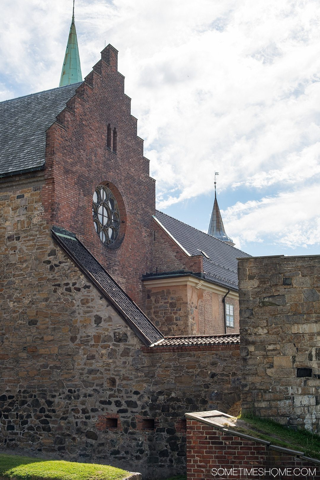 10 Not-to-Miss Sites in Oslo Norway by Sometimes Home travel blog. Photo of Askershus Fortress.
