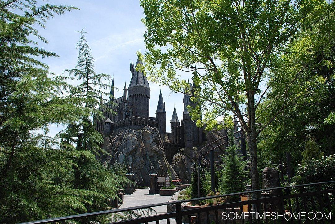 5 Mistakes to Avoid at the Wizarding World of Harry Potter in Orlando, Florida by Sometimes Home travel blog. Photo of Hogwarts Castle Forbidden.