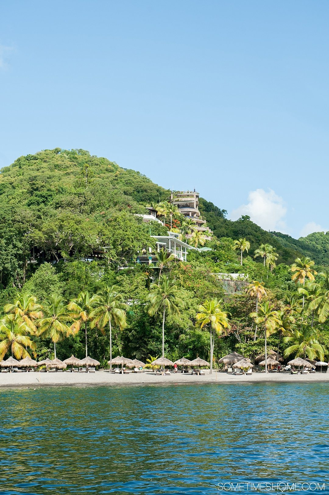 Your Questions Answered: Jade Mountain St. Lucia on Sometimes Home travel blog. The resort is built in harmony with the landscape.