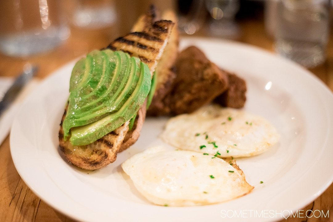 Your Complete Guide to Saugerties, New York on Sometimes Home travel blog. Photo of avocado breakfast at Love Bites Cafe.