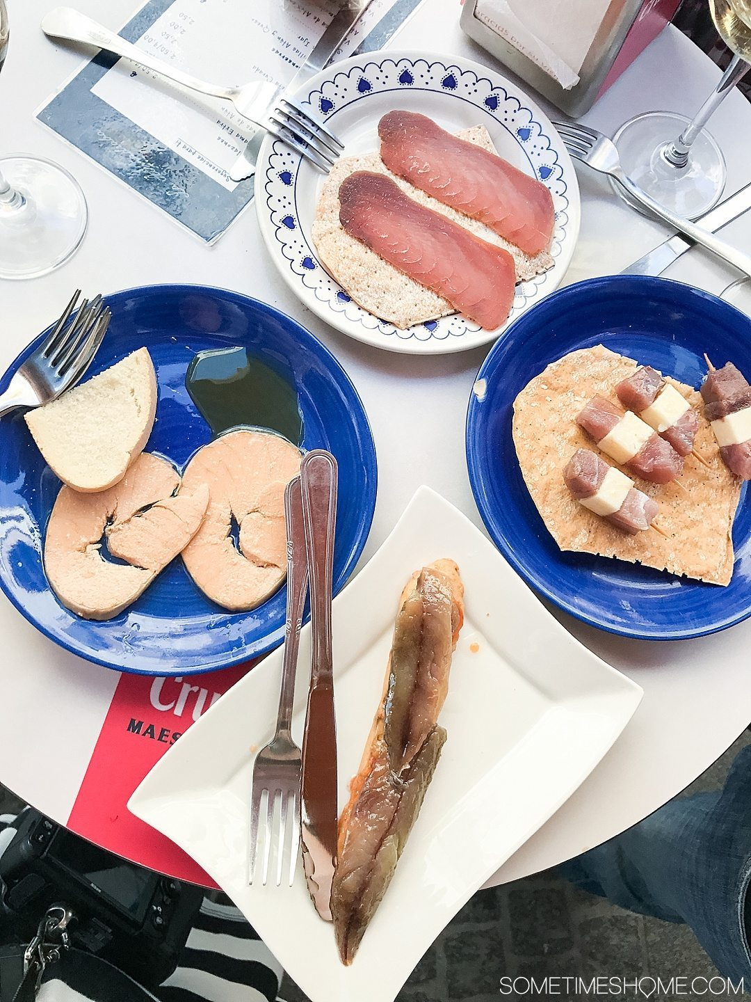 Eat Your Way Through Seville on Sometimes Home travel blog. Photo of tuna prepared multiple ways.