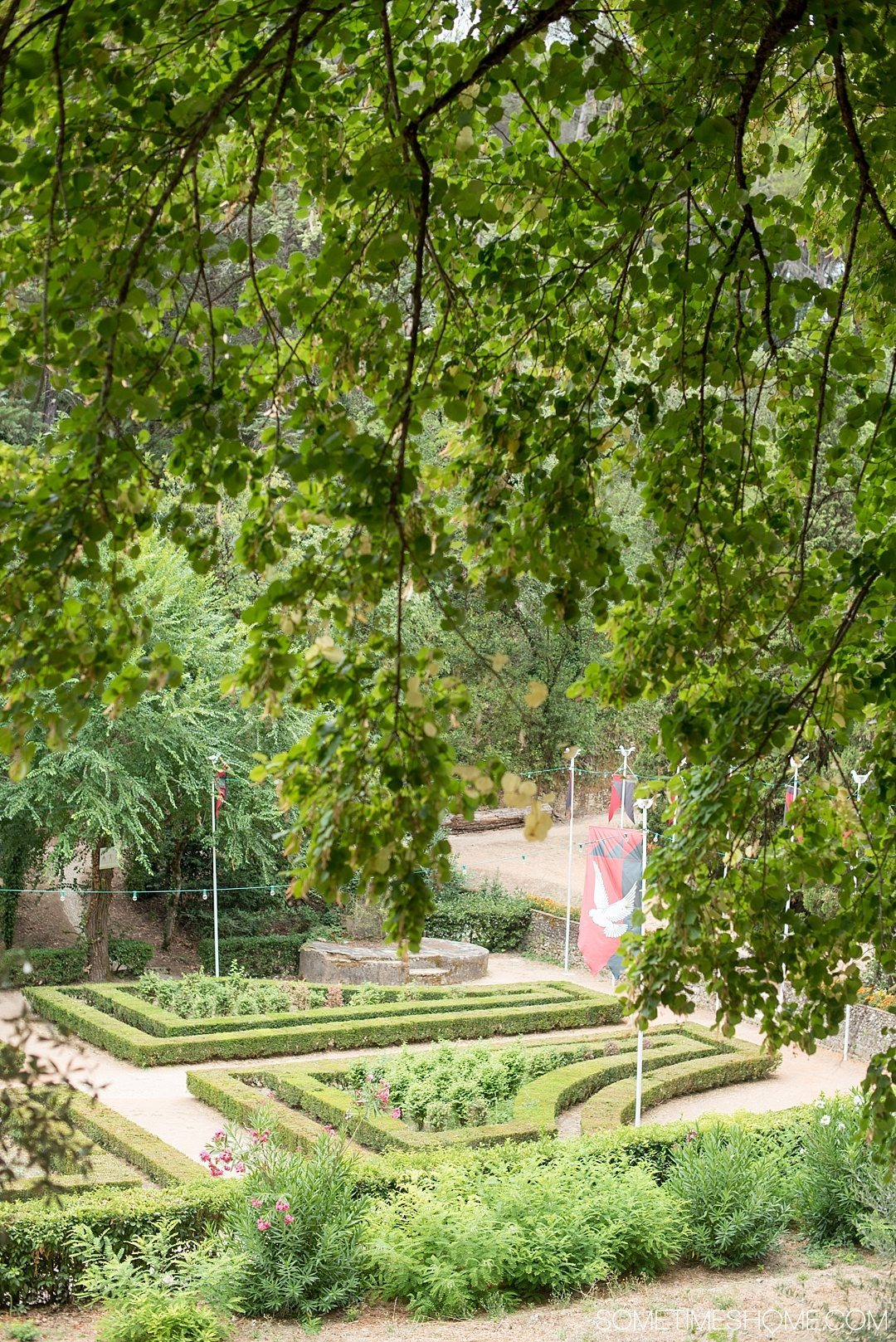 Amazing Day Trip from Lisbon to Tomar Portugal. Photos, tips and advice on Sometimes Home travel blog. Picture of the garden at Mata Nacional dos Sete Montes.