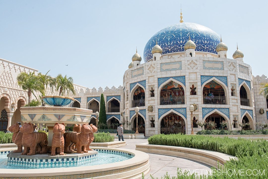 The Ultimate First-Timer's Guide to Tokyo DisneySea on Sometimes Home travel blog. Photo of the Arabian Coast land.