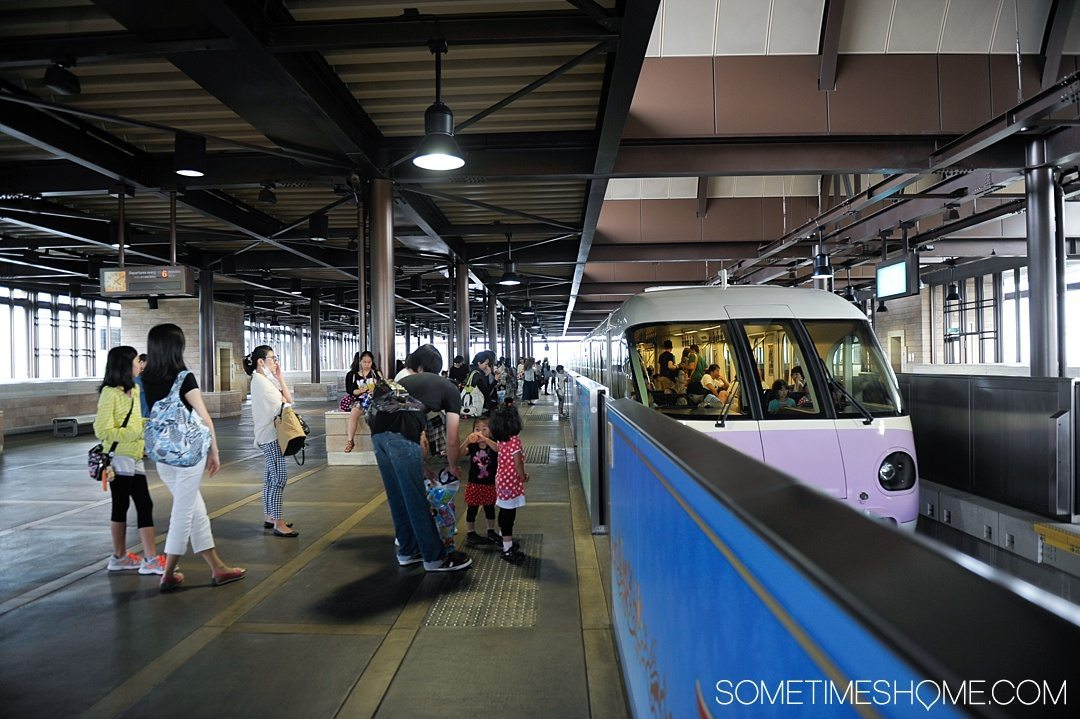 The Ultimate First-Timer's Guide to Tokyo DisneySea on Sometimes Home travel blog. Photo of the monorail.