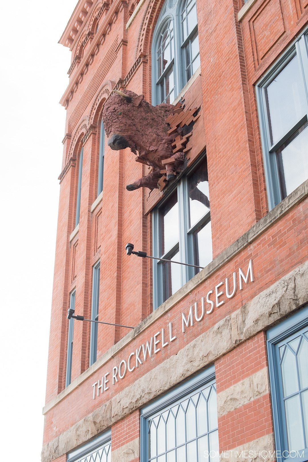 Things to do in Corning NY in the Finger Lakes region on Sometimes Home travel blog. Photo of the outside of the Rockwell Museum with an extensive collection of Native American art.