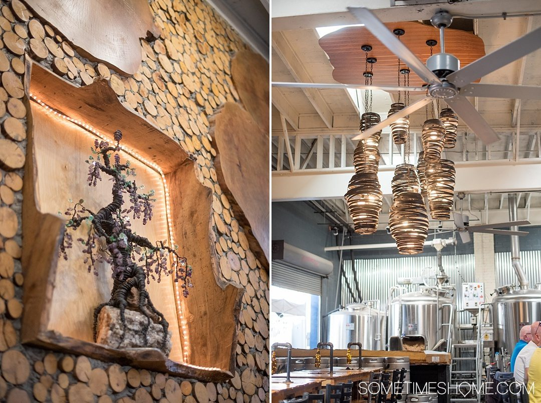 Where to find beer and art in Asheville North Carolina. Photos and locations on Sometimes Home travel blog, including Bhramari bar downtown.