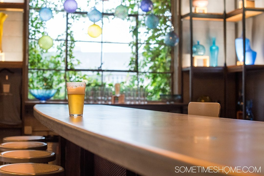 Where to find beer and art in Asheville North Carolina. Photos and locations on Sometimes Home travel blog, including Lexington Glassworks downtown.