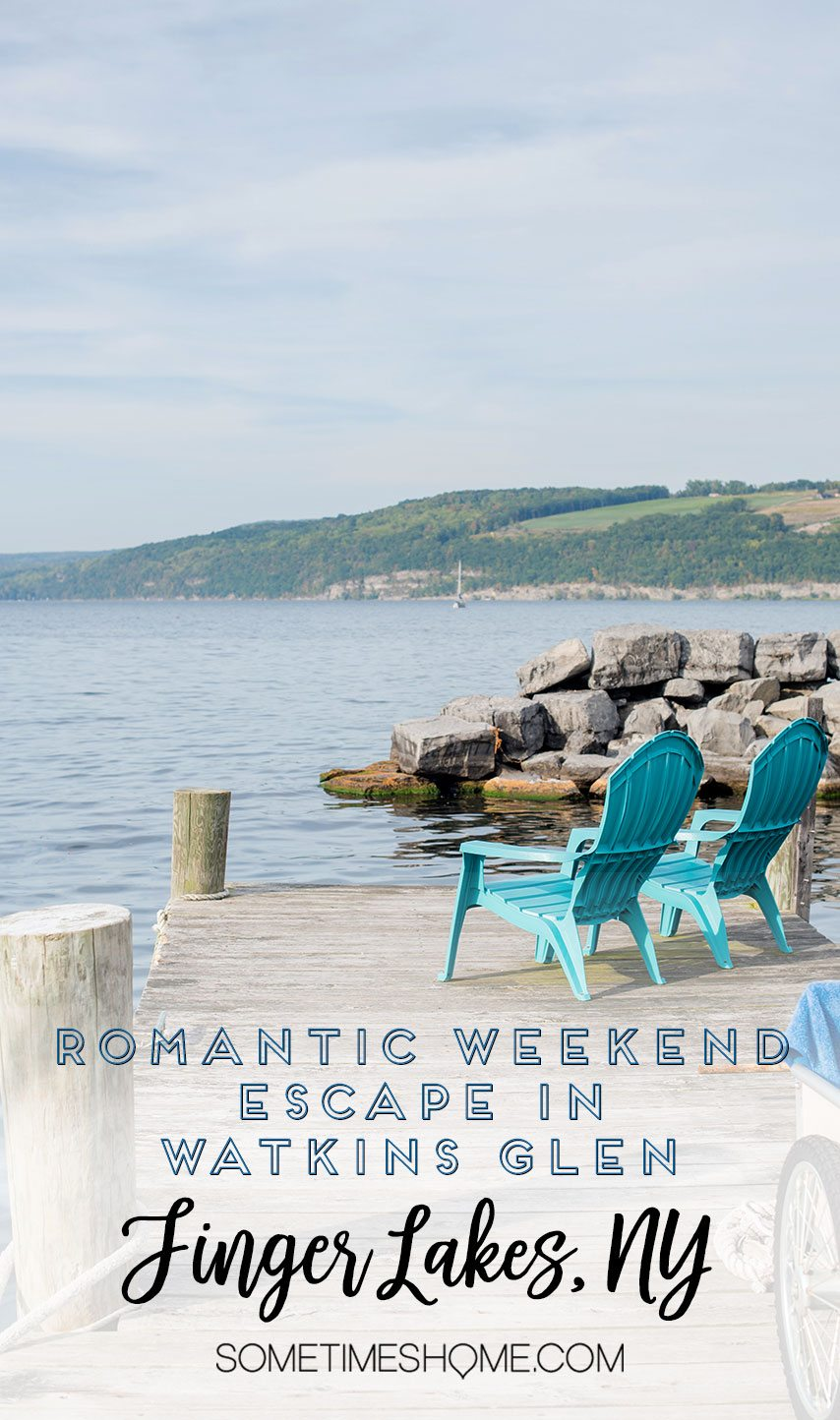 Romantic places in New York State with a weekend trip to Watkins Glen. Take a road trip from NYC to this Finger Lakes destination. Click through to see exactly what activities make it so romantic! #FingerLakesVacations #RomanticGetawayAdvenutres