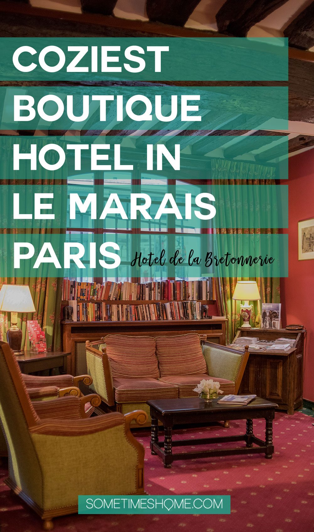 Le Marais Paris Accommodation at Hotel de la Bretonnerie. Find out why this boutique hotel is the coziest around! It's an affordable stay in the Marais district, with balcony view options to behold and beautiful interior suites as well. Click through to the article for a complete review! #parishotel #lemaraisparis #maraisparis #boutiquehotelsparis