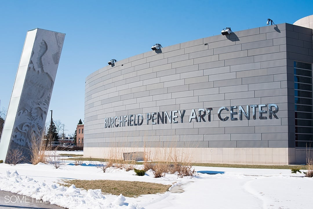 Looking for affordable warm activities to do during winter in Buffalo, New York? Sometimes Home has you covered! From art museums, to restaurants with great food and drinks, to a hotel with a revolving bar, and more things to do if you're traveling to this city. No matter if it's fall or winter snowy days won't get you down with these ideas! Did you know there are world class art museums there? Click through for all our suggestions! #BuffaloNY #travelBUF #BuffaloNY #WesternNewYork #VisitBuffaloNiagara