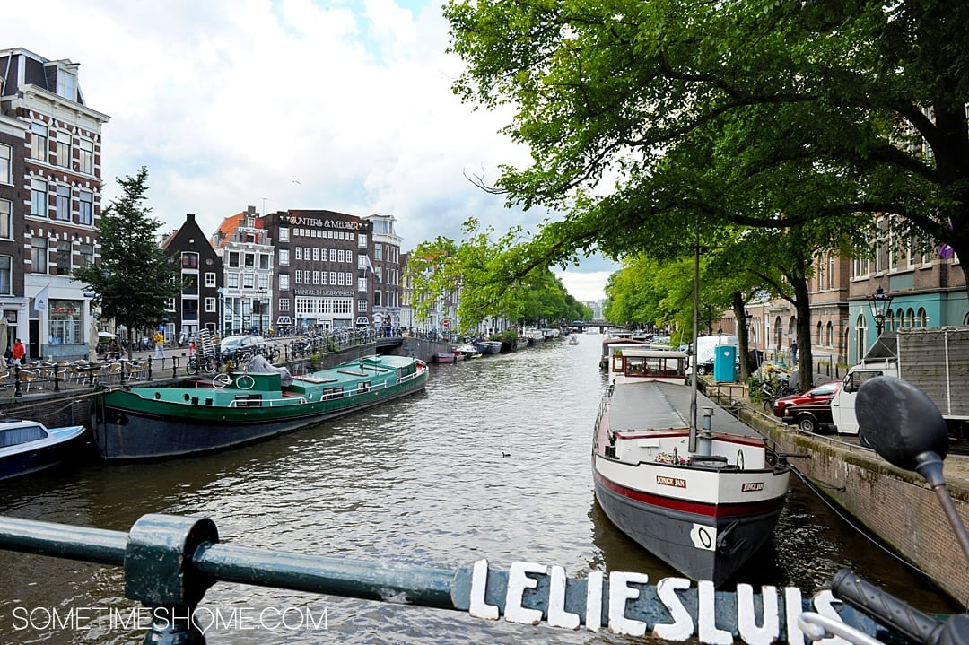 Thing to do in Amsterdam besides smoke pot when you travel to this Instagram-worthy destination in the Netherlands. Maps and photography of summer activities, food, architecture, Red Light District, and houses along the canals. A stop at a museum and churches complete the pictures of this European destination. Click through for the complete list of Things to do Besides Smoke Pot there! #SometimesHome #Amsterdam #Canals #EuropeanCities