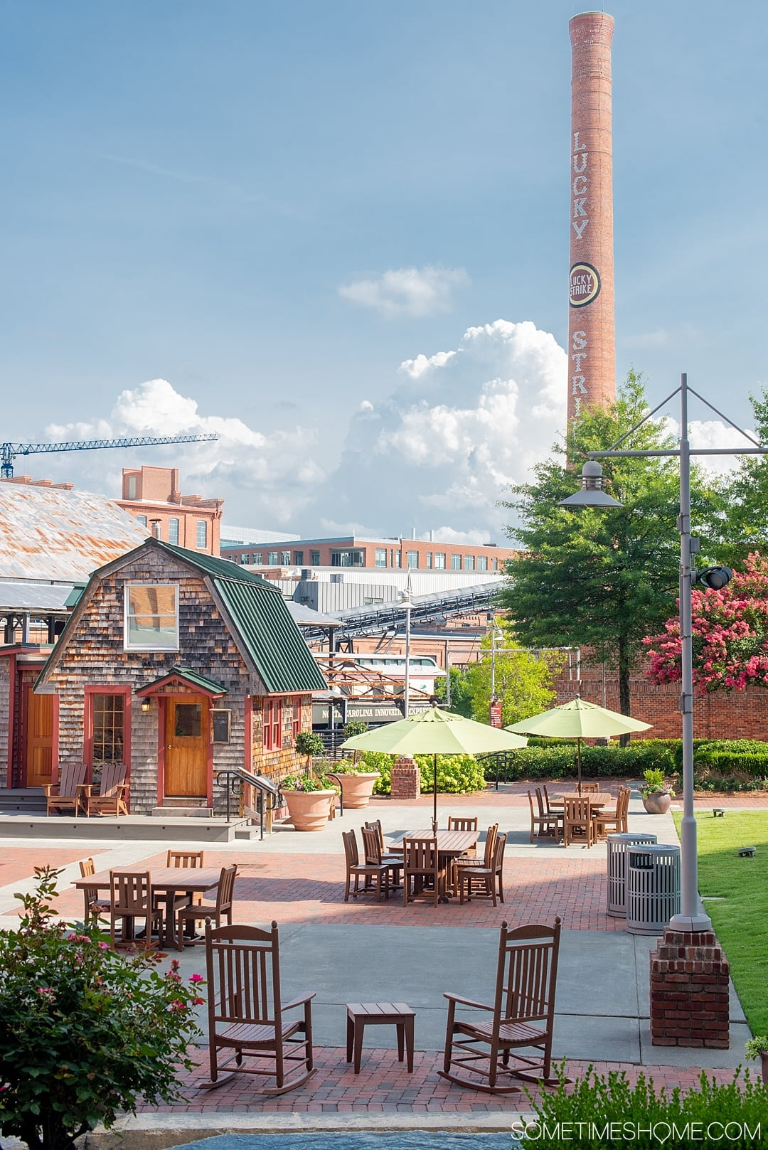 The 12 Best Photography Spots in Durham, North Carolina include art, greenery, a very special part of Duke campus, downtown scenery and more. Click through to read the specifics on historic American Tobacco Campus on Sometimes Home! #DurhamNC #NorthCarolina #DurhamNorthCarolina #Duke #VisitNC #photographyspots #photography