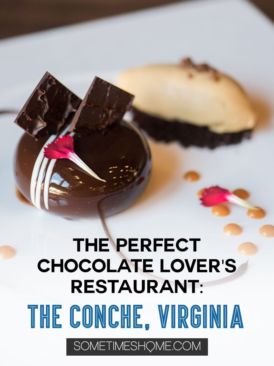 Looking for things to do in Leesburg, Virginia and Loudoun County? We have a chocolate restaurant worth the drive no matter how near or far you live from VA. The food and dessert photography will make you want to lick the computer screen! Click through for thorough info and descriptions of this scrumptious place! #visitloudoun #VIsitVirginia #ChocolateRestaurant #SometimesHome #LoudounCounty #Virginia #themedentertainment #themedrestaurant #chocolatelovers #chocolate