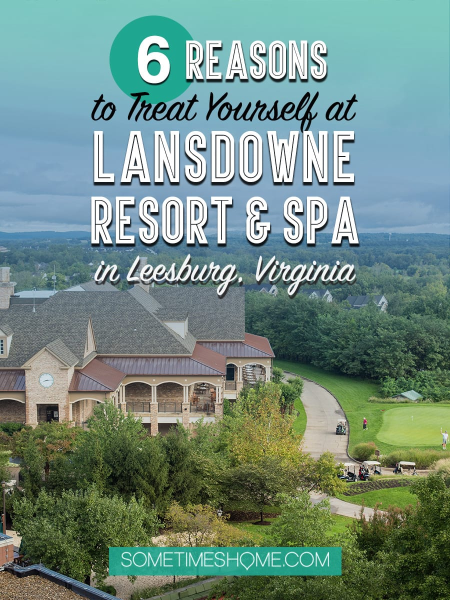 The prettiest resort and spa in Leesburg, VA, Lansdowne. The view of the Virginia mountains is perfect during spring, summer, winter and fall and the photography opportunities are endless! There are plenty of things to do and it's close to wineries and great restaurants. Click through for the 6 reasons you should treat yourself to an overnight! #LeesburgVA #VirginiaResortsandSpas #VASpas #VirginiaSpas #GirlsweekendVA #LuxuryHotelsinVA #Virigniatravel #VisitVirginia #LoudounCounty