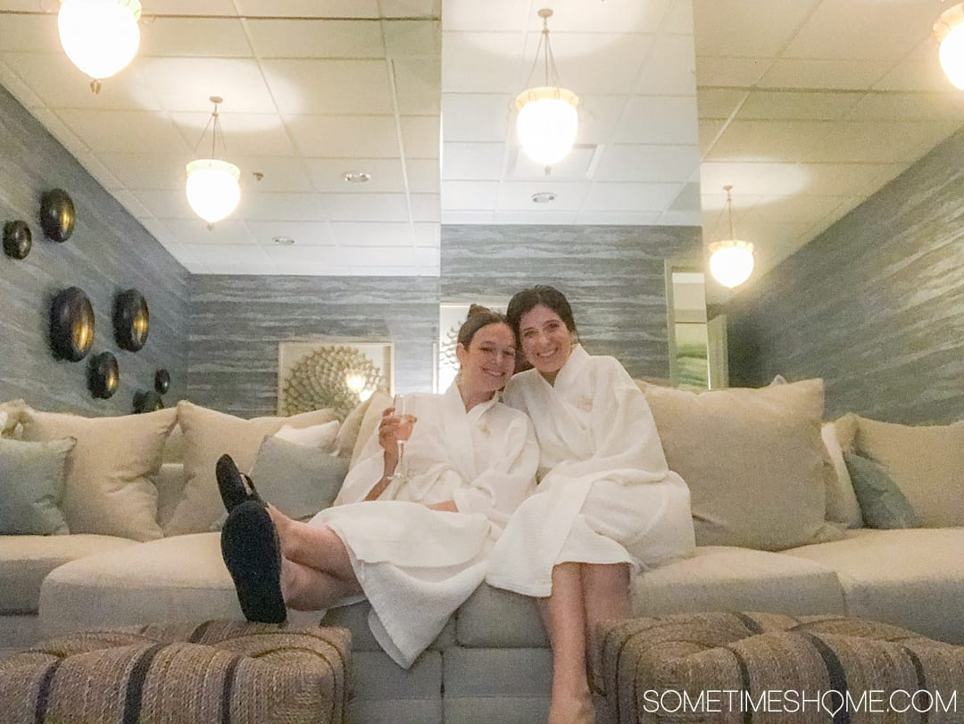 The perfect girls weekend is for a spa getaway of course! One of the best things to do in North Carolina is take a road trip to Greensboro to indulge in great restaurants, downtown murals, afternoon tea and of course a massage at a newly renovated spa. We have exactly what we did and where we did it in this complete recap with professional travel advice and photography! Click through for the insider info! #greensboro #visitNorthCarolina #GreensboroNC #GirlsWeekend #SpaWeekend #NCroadtrip