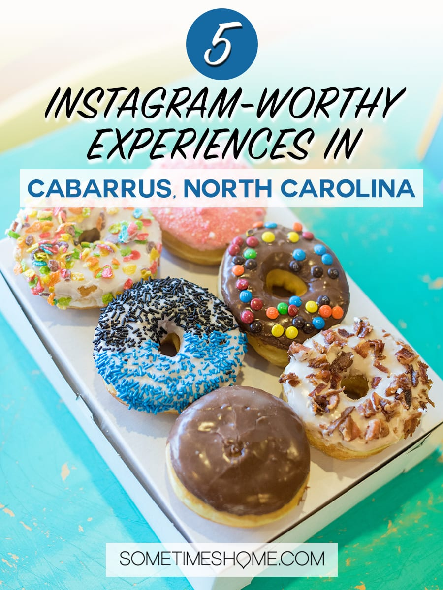 Things to do in Cabarrus, County North Carolina, just outside of Charlotte. It's easy to travel to this Instagram worthy destination, just three hours west from Raleigh and a short road trip east of the mountains in Asheville. Consider it for a great weekend vacation whether spring, summer winter or fall. Click through to see our complete list of photography spots we loved! #NorthCarolina #SometimesHome #CabarrusCounty #VisitNorthCarolina #CabarrusCountyNC