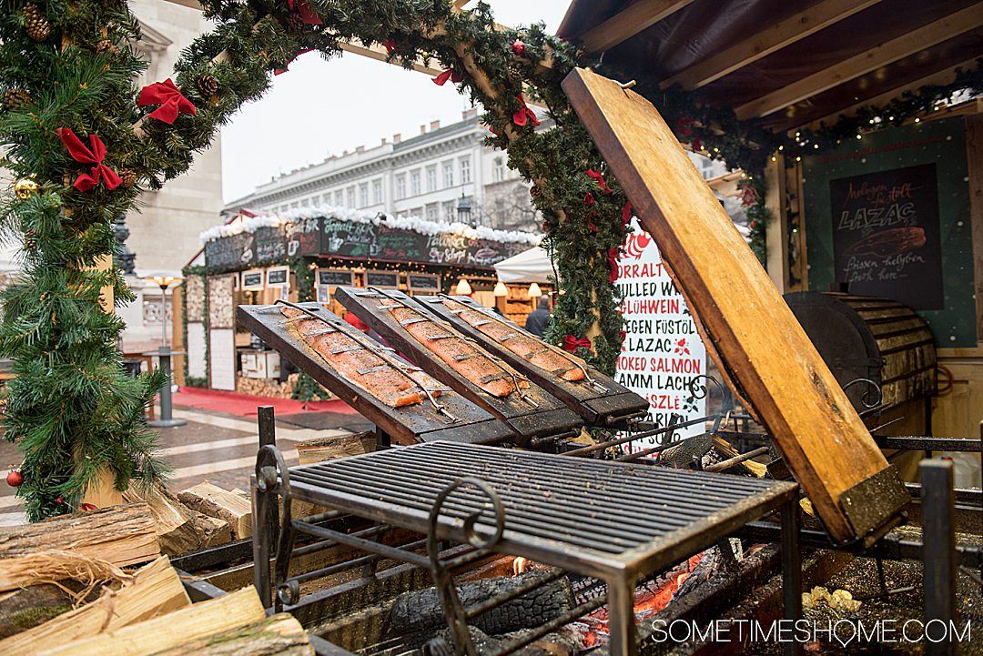 A dazzlingly beautiful Christmas River Cruise holiday market in Budapest, on a Romantic Danube cruise with Viking. Click through for more details information! #Budapest #ChristmasRiverCruise #RiverCruise #SometimesHome