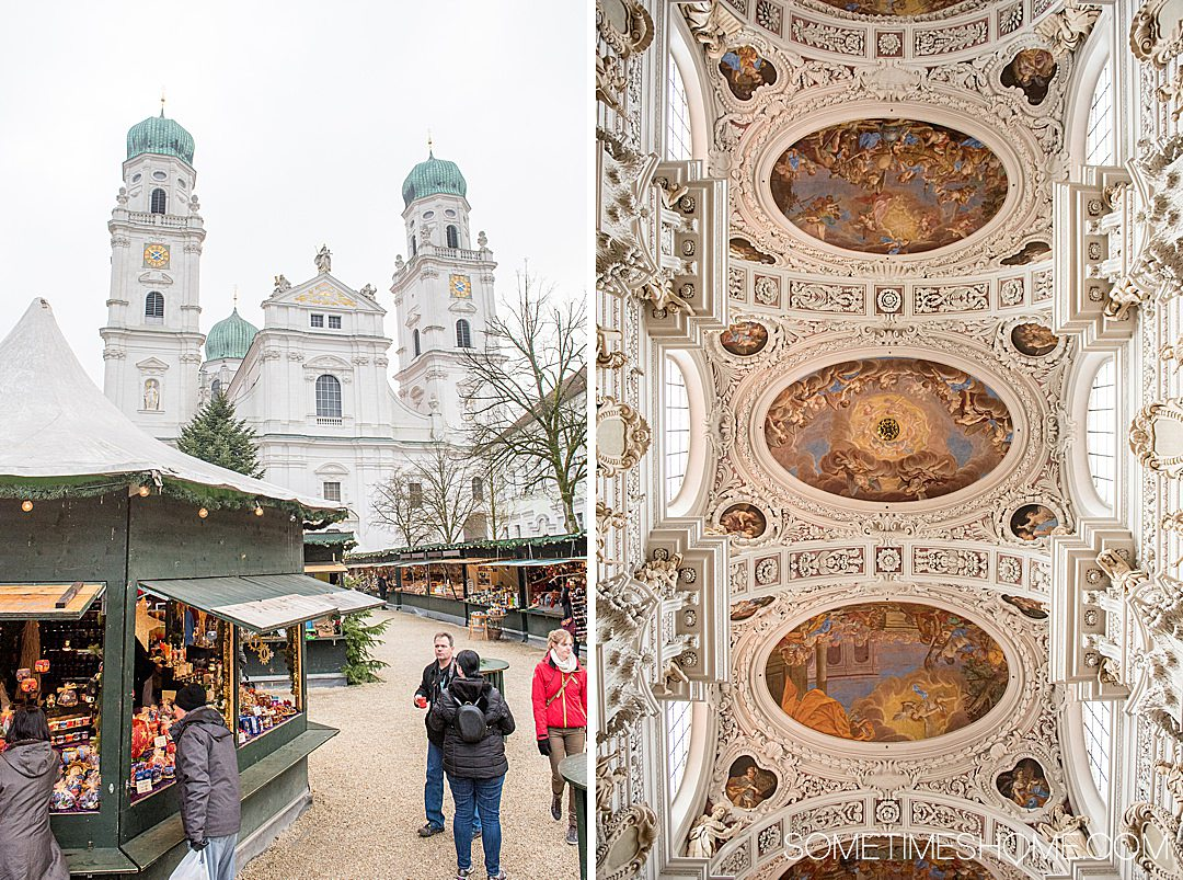 Scenery from a Danube Waltz, Viking cruise itinerary in Passau, Germany. A Christmas markets cruise with all the charm of the holiday season. Click through for more details information! #Germany #ChristmasRiverCruise #RiverCruise #SometimesHome