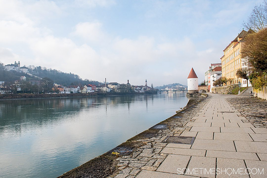 Danube Viking Christmas River Cruise photos with holiday markets in quaint European towns like Passau, Germany. Click through for the entire cruise itinerary. #RiverCruise #ChristmasRiverCruise #SometimesHome