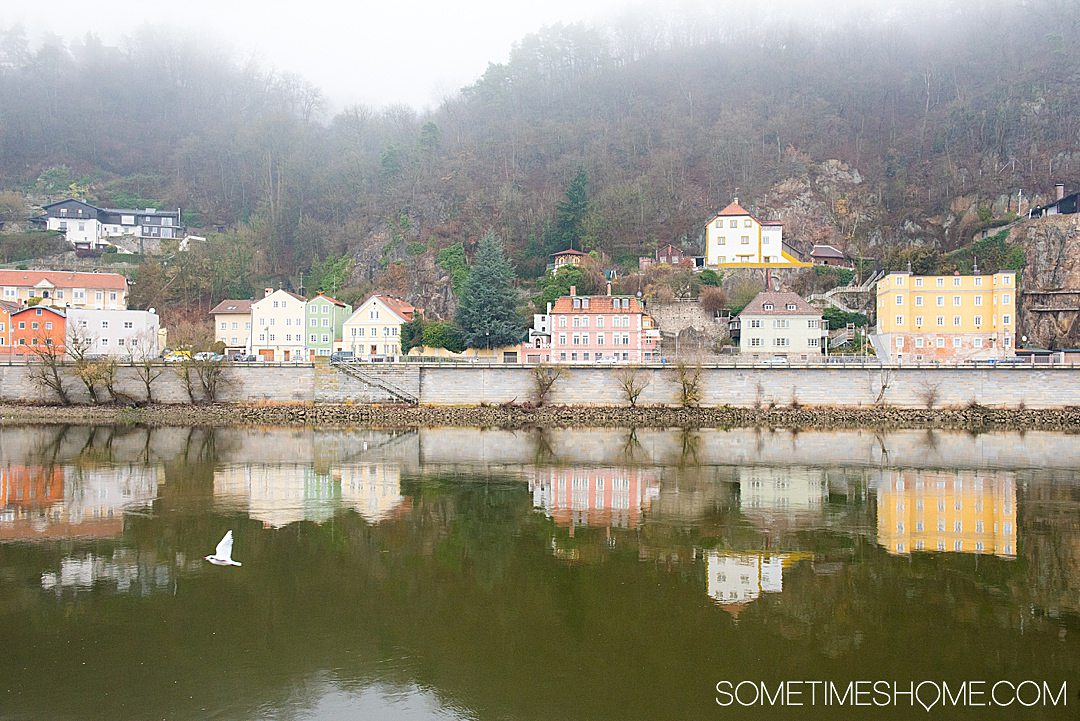 Scenery from a Danube Waltz, Viking cruise itinerary in Passau, Germany. A Christmas markets cruise with all the charm of the holiday season. Click through for more details information.