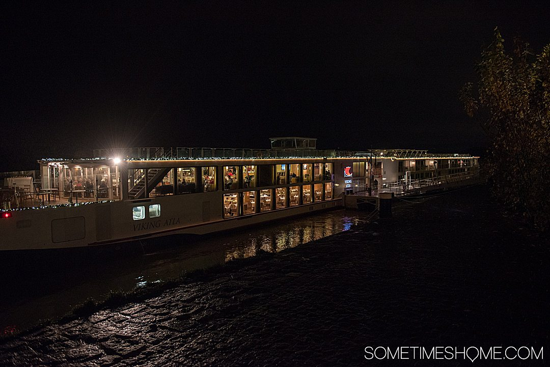 Viking Christmas River Cruise photos aboard the Atla vessel, with stops at holiday markets along the Danube River. Click through for the entire cruise itinerary. #RiverCruise #ChristmasRiverCruise #SometimesHome