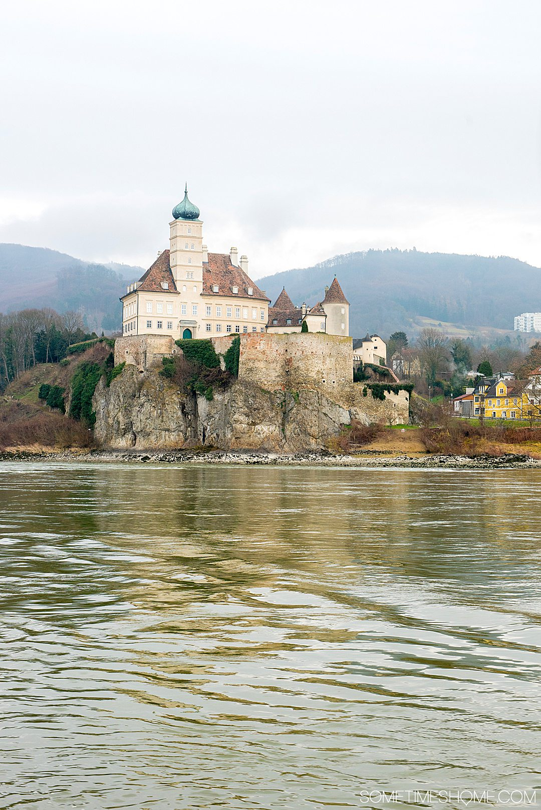 Beautiful photo-worthy scenery along the Danube Viking Christmas River Cruise, with holiday markets in quaint European towns. Click through for the entire cruise itinerary. #RiverCruise #ChristmasRiverCruise #SometimesHome