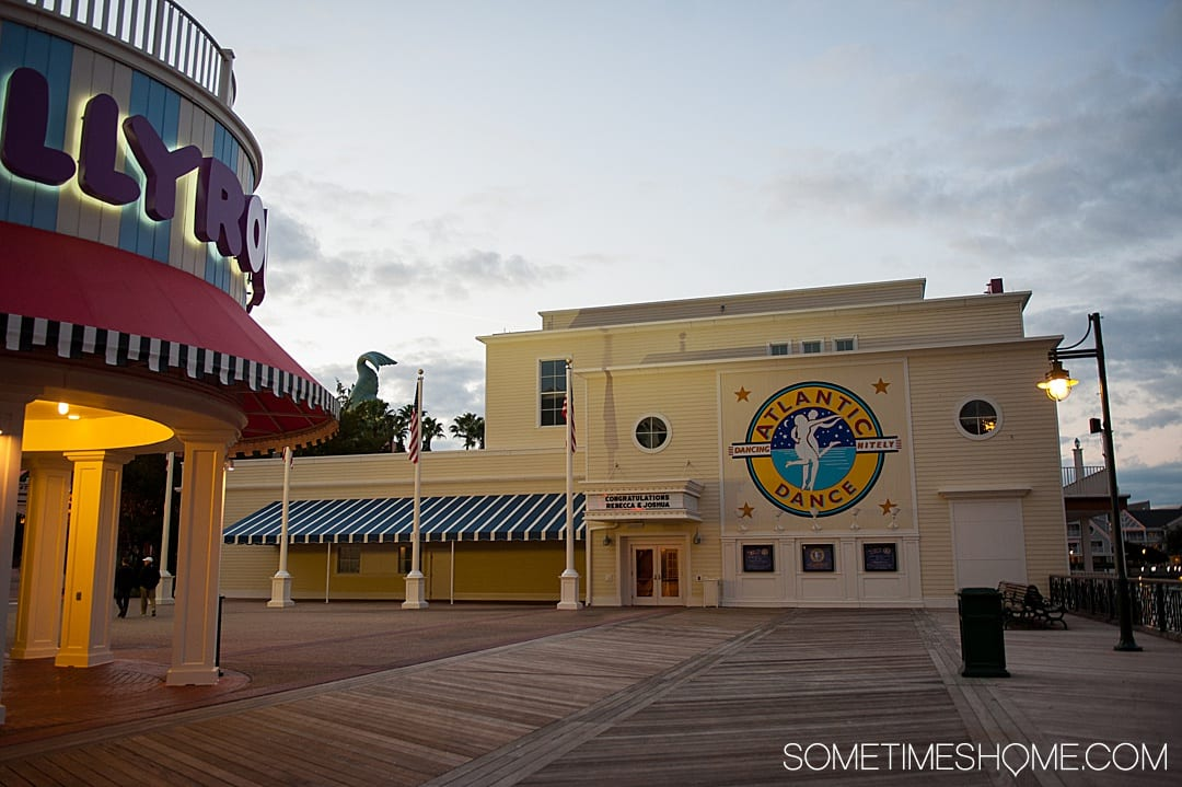 Fun things to do for adults at Walt Disney World besides parks. These ideas include things that don't require admission tickets from mini golf, to dueling pianos and Atlantic Dance Hall on the Boardwalk. Your Florida trip vacation planning inspiration will expand with these tips especially if you're on a budget or want a day away from Epcot, the Magic Kingdom, Animal Kingdom or Hollywood Studios. #DisneyWorldPlanning #DisneyVacation #SometimesHome #WaltDisneyWorld #WaltDisneyWorldforAdults
