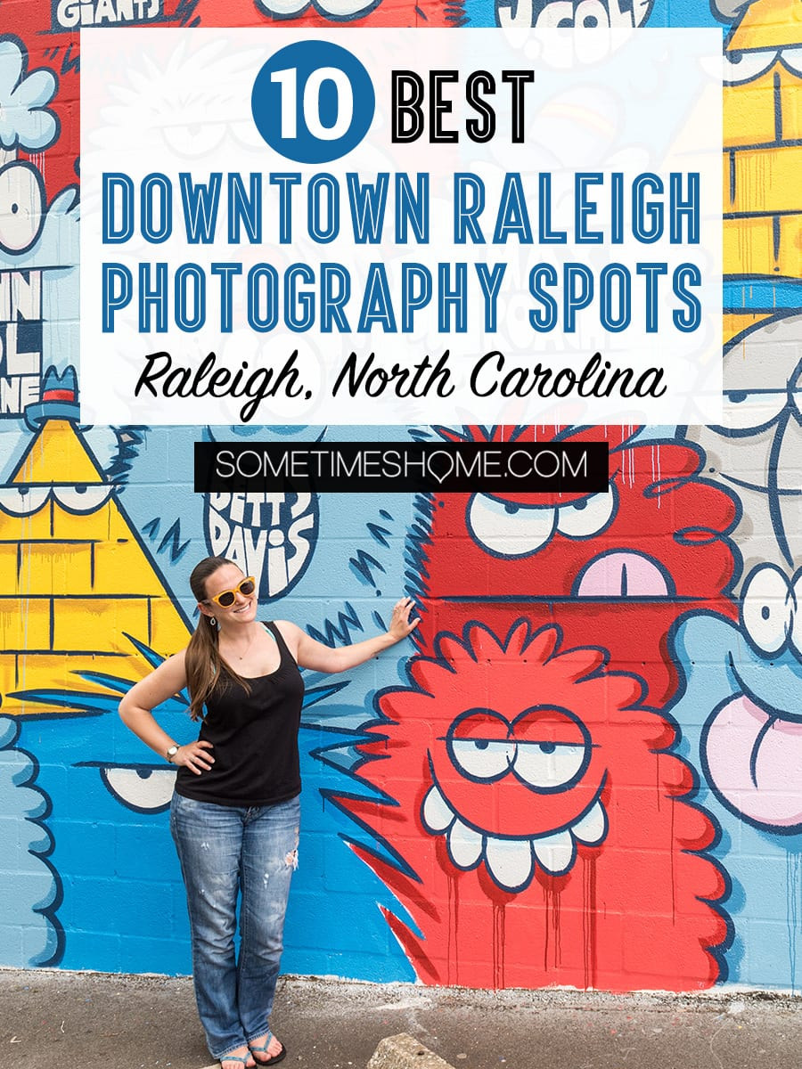 10 Best Downtown Raleigh Photography Spots on Sometimes Home travel blog. #downtownraleighphotography #raleighphotography #raleighphotographer