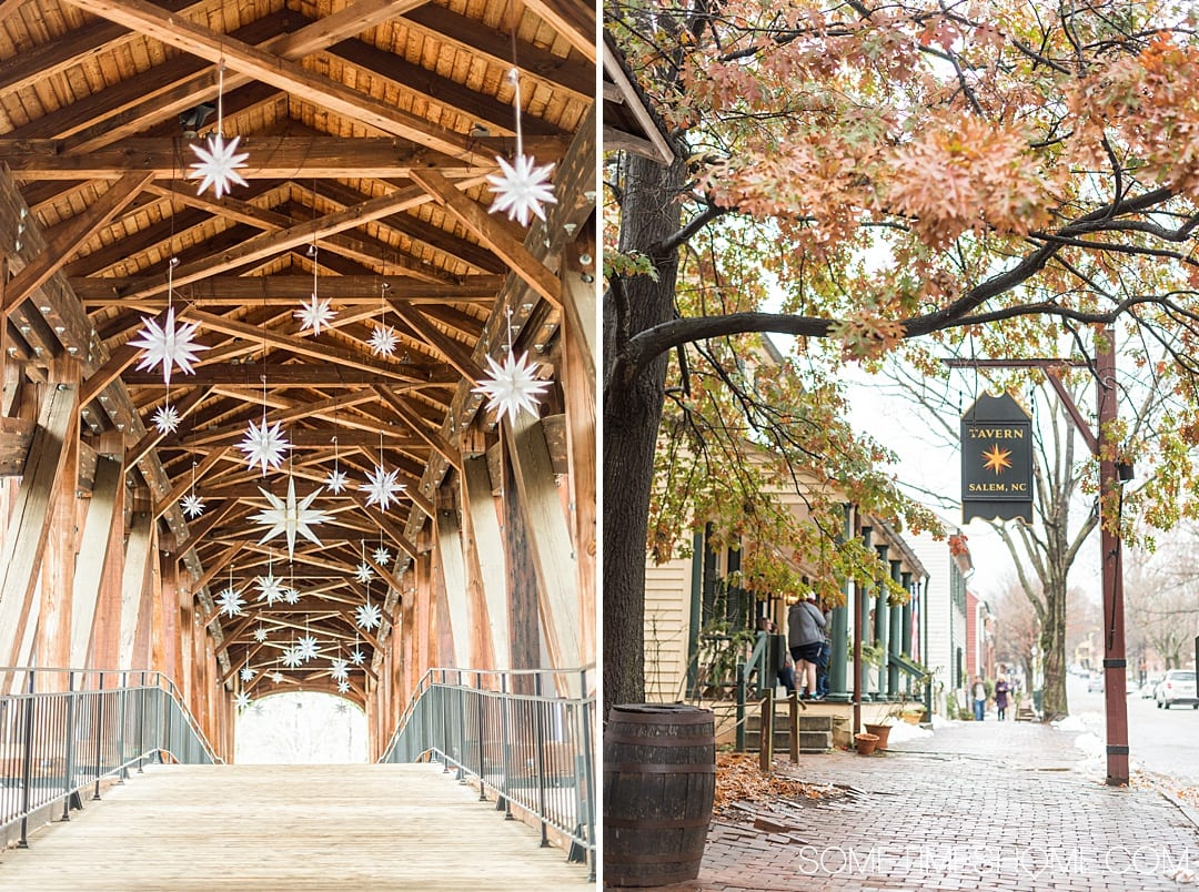 Ideas for Winston Salem attractions and things to do in North Carolina, from downtown art murals to restaurants. This beautiful NC city is a great weekend trip or overnight anywhere on the east coast for travel enthusiasts. #VisitNC #NorthCarolina #WinstonSalem #sometimeshome #eastcoasttravel #piedmontNC