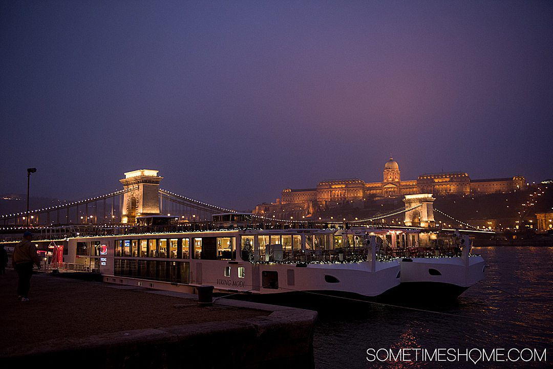 Danube Viking Christmas River Cruise photos with holiday markets in Budapest, Hungary including the castle and beyond. Click through for the entire cruise itinerary. #RiverCruise #ChristmasRiverCruise #SometimesHome