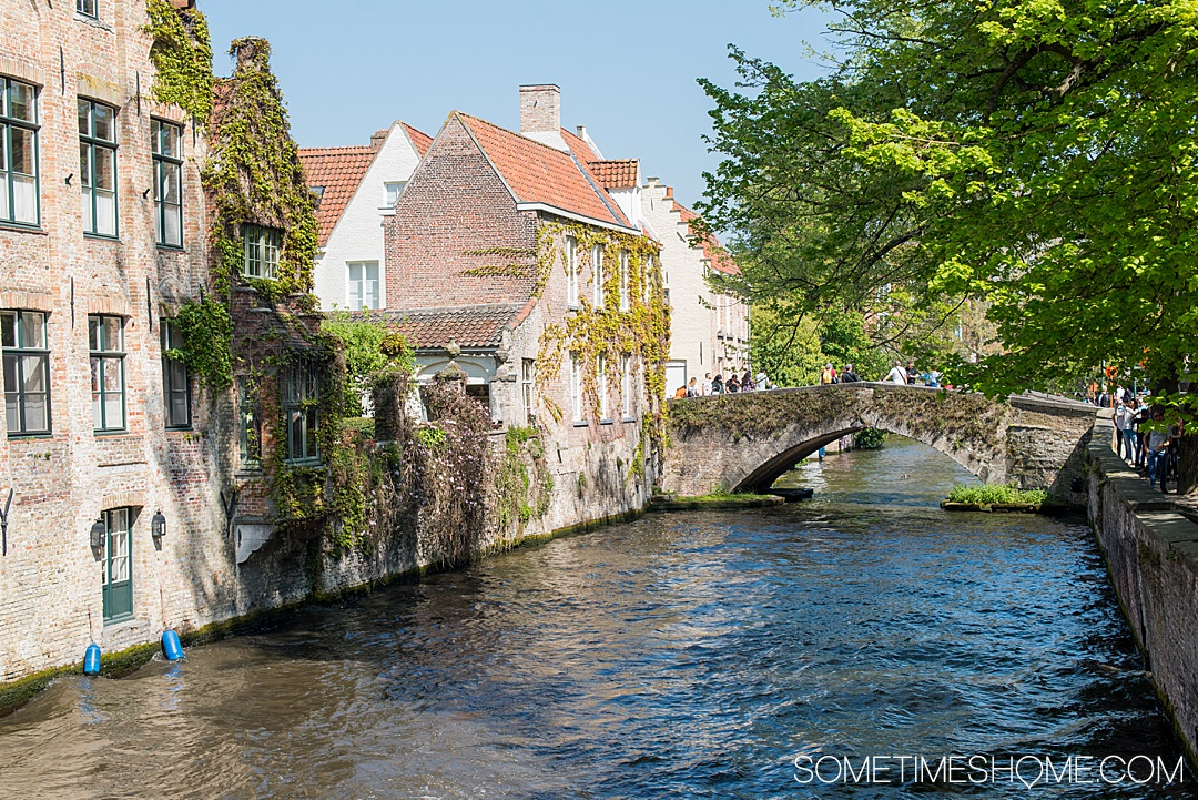 Amsterdam river cruise in The Netherlands and beautiful Belgium with tulips in bloom and a lot of charming European port cities to visit you wouldn't otherwise think of. We traveled with Emerald Waterways for 8 days of destinations and exploring in Europe day and night, with adventure to explore on the ships and in each city. #SometimesHome #SometimesHomeEurope #AmsterdamRiverCruise #EuropeanRiverCruise #AmsterdamTulips #Belgium #Bruges
