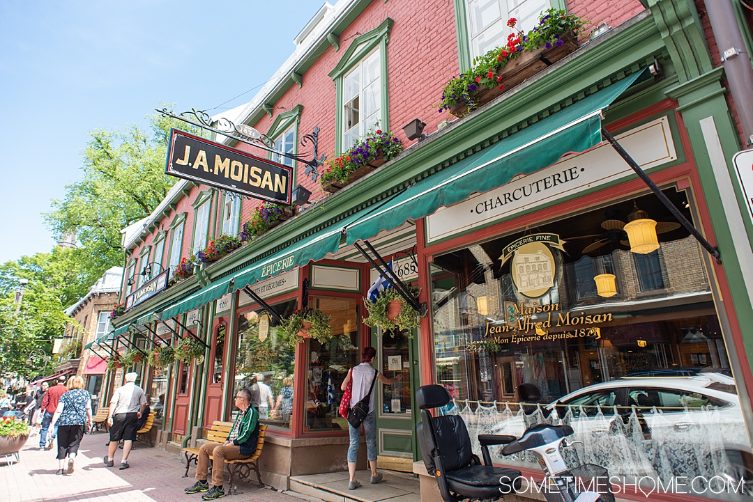 Things to do and see in Quebec City in 24 hours, in Canada. This French-speaking province is packed with history and beautiful city scenes. From a hotel that looks like a castle, to Instagram-worthy travel photography locations (including a garden and parliament) to a food store from the 1800s! #quebeccite #quebeccity #sometimeshome #Canada