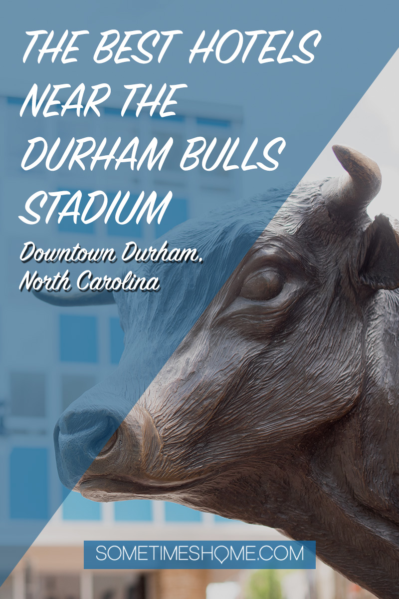 The best hotels near the Durham Bulls Stadium in North Carolina, including boutique hotels and luxury options in the heart of the city, with rooftop bars, pools, and Instagram-worthy scenery. #sometimesHome #DowntownDurham #Durhamhotels #DurhamBulls
