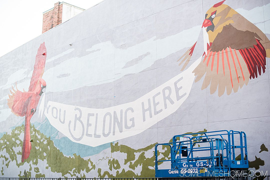 You Belong Here mural in downtown Staunton, Virginia