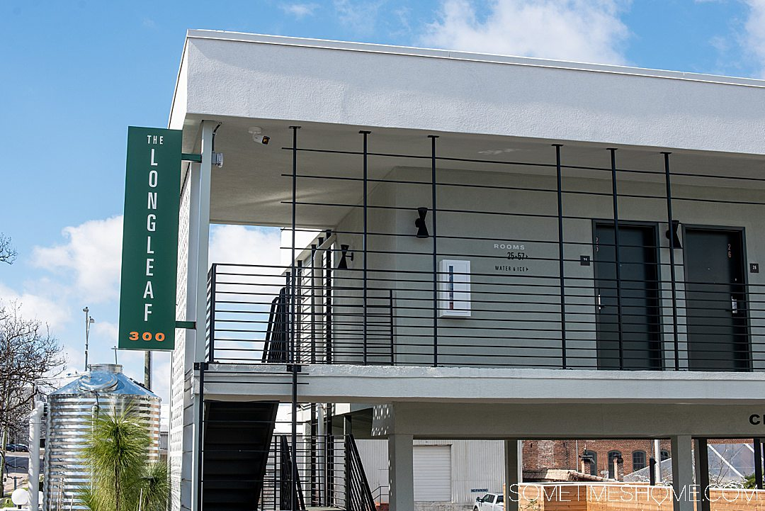 If you're moving to Raleigh and need a hotel while you house shop or visit the photography-worthy downtown area this is a great option. The Longleaf Hotel in Raleigh has great mid-century modern inspired branding that was done by Joshua Gajownik in North Carolina. Located in the heart of downtown. #downtownRaleigh #NorthCarolina #sometimeshome #midcenturymodern