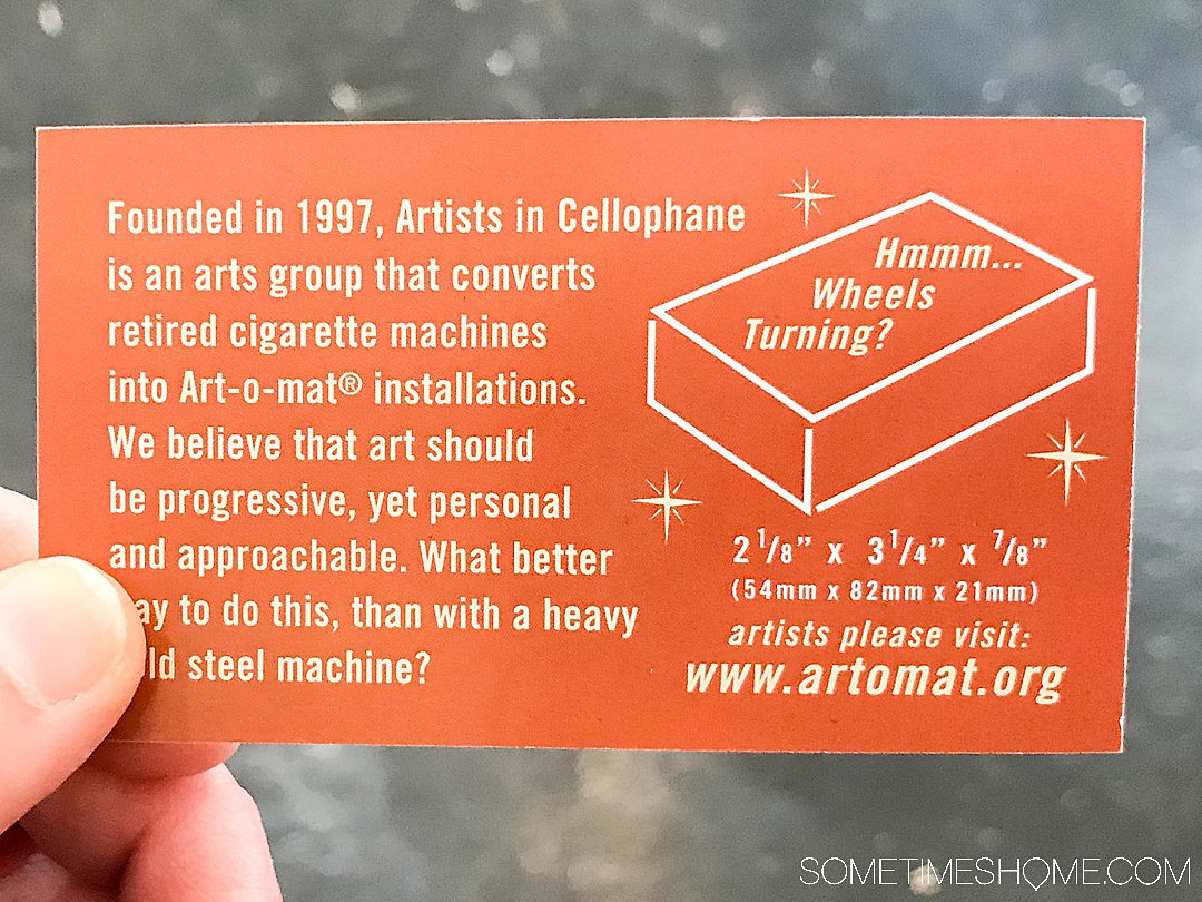 Everything you need to know about Art-o-mat up cycled cigarette dispensers by Clark Whittington, including submissions, democratizing art throughout Winston-Salem North Carolina and beyond, into Las Vegas and across the country.