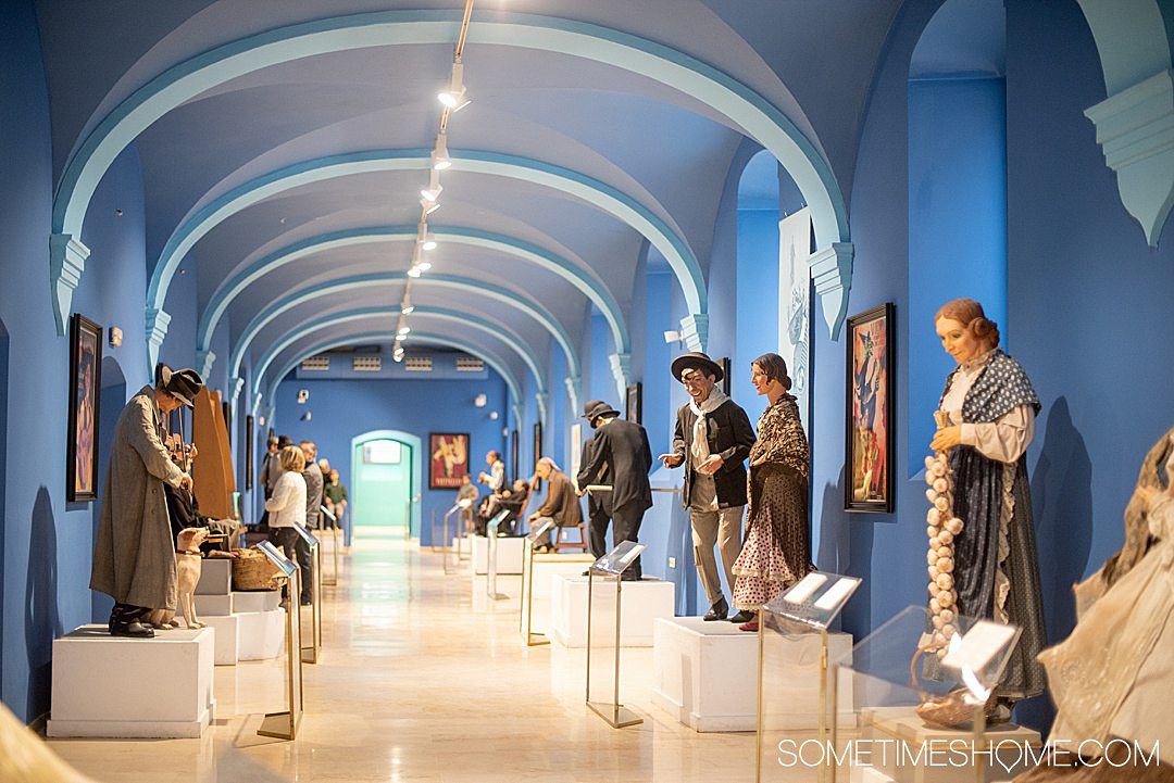 Image of the interior of the Falles Museum in Valencia.