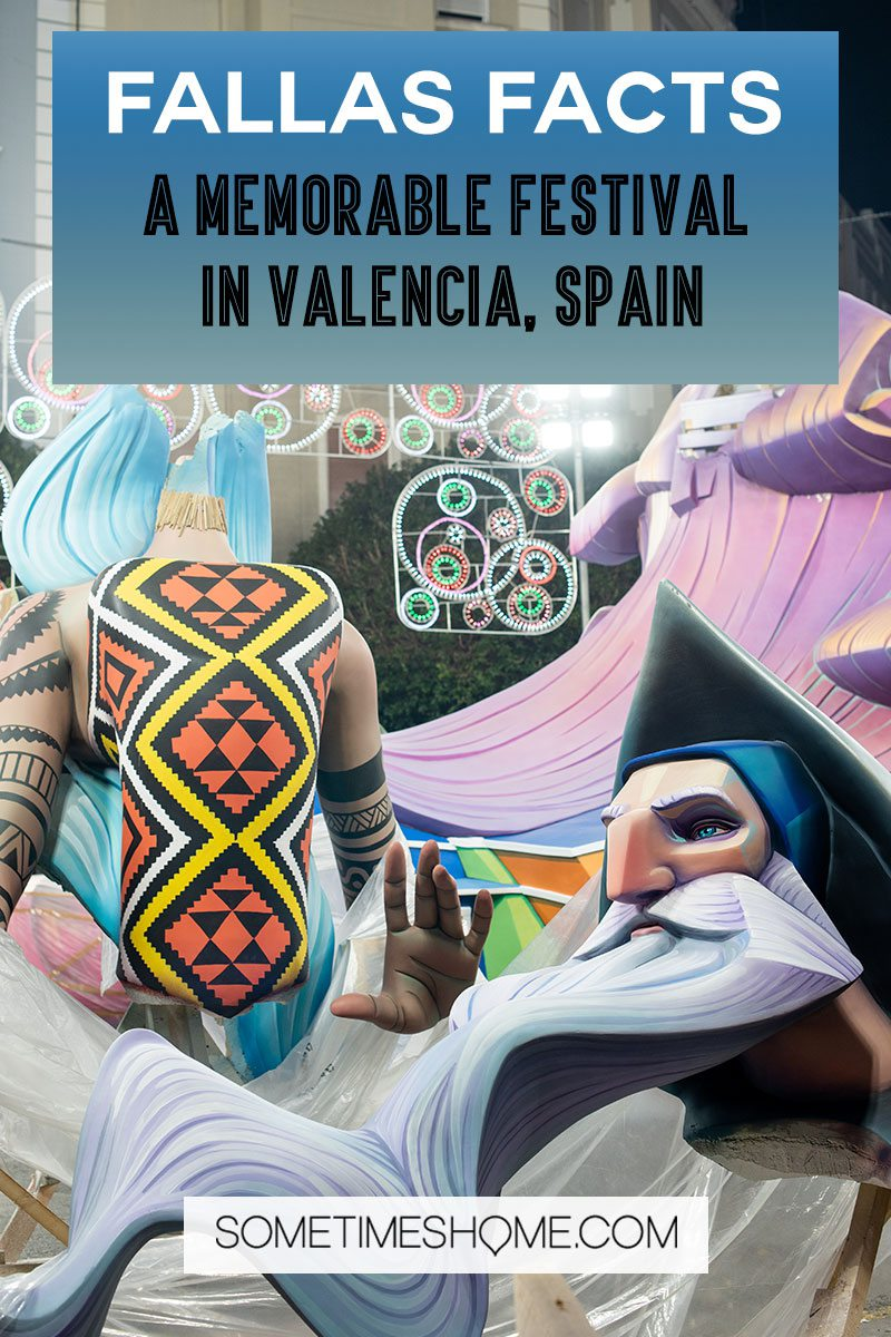 Fallas Festival Pinterest Graphic for an article about the celebration in Valencia.