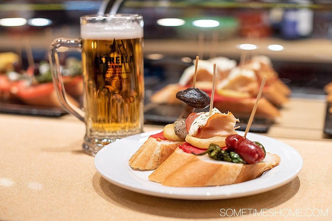 Pincho tapa foods in Barcelona