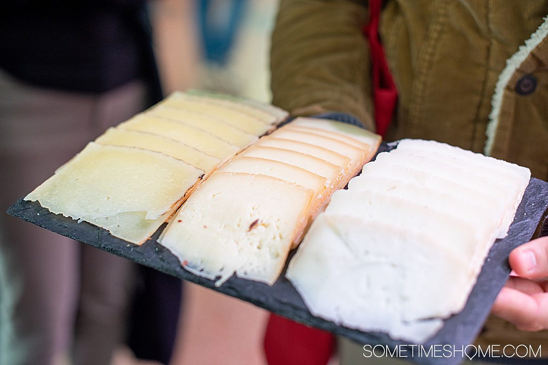 Spanish cheese slices in Barcelona
