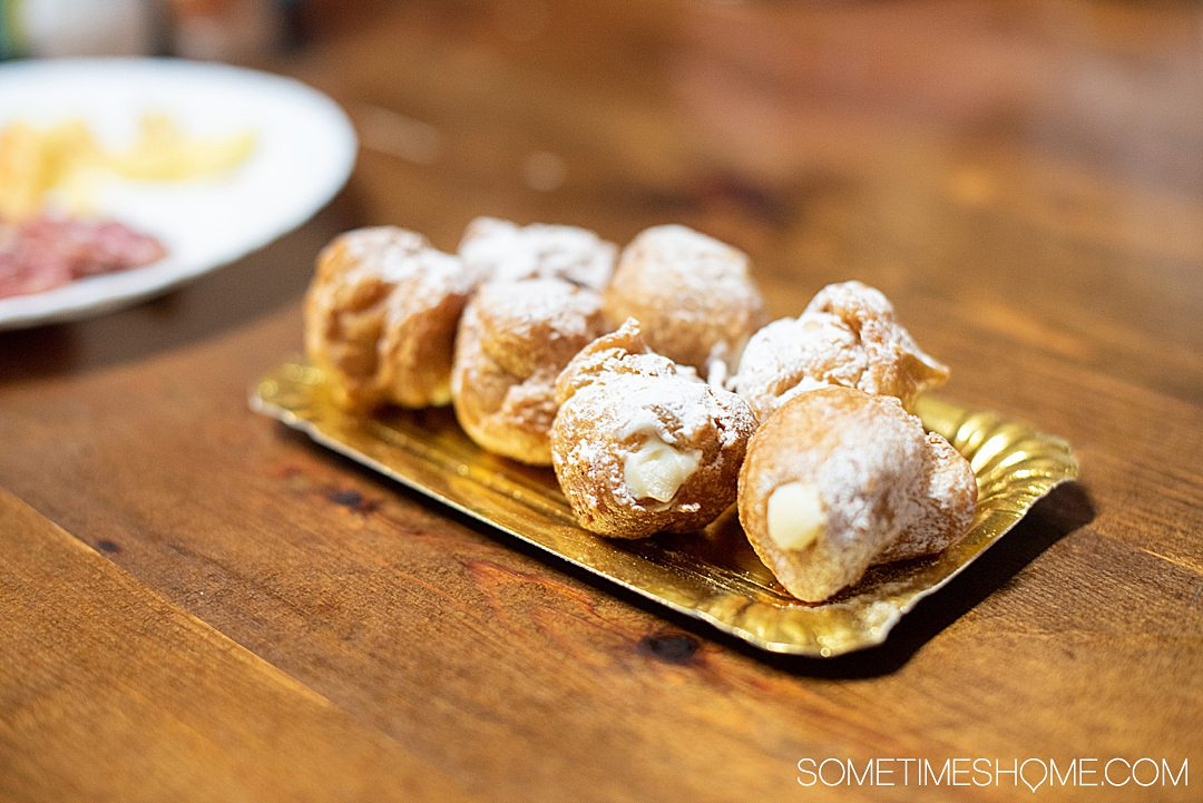 Barcelona pastry, called bunyols, in Spain