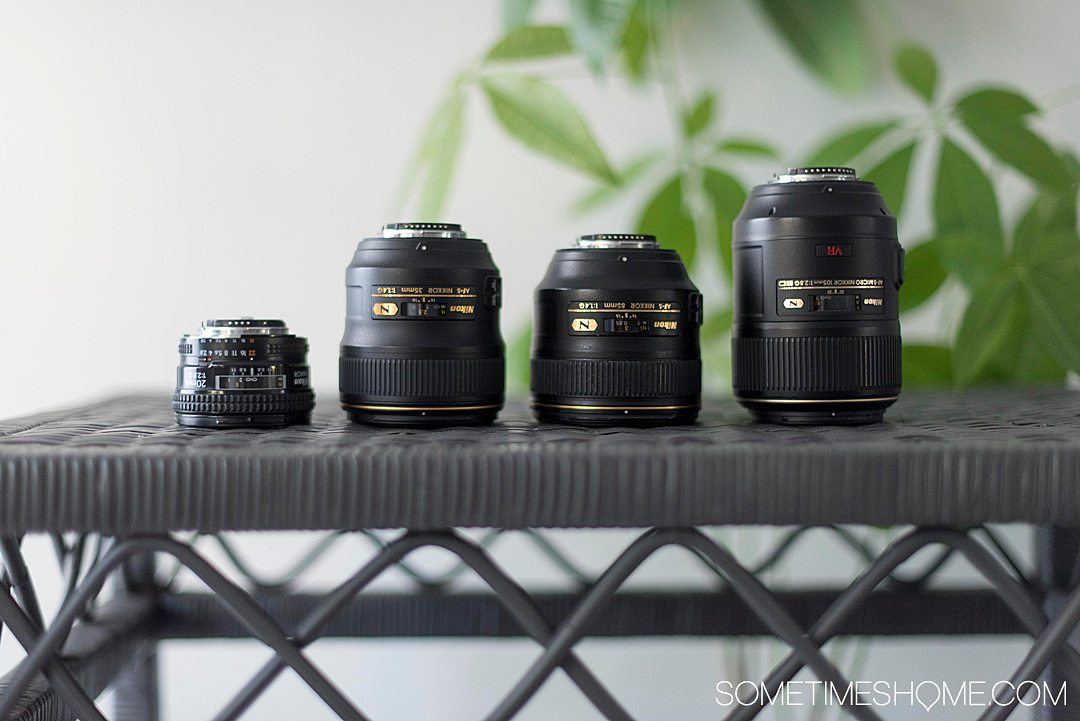 Our maximum and minimal travel photography gear list, including products like our lenses, bags, and flashes or speedlites we use. Great photography is important to us on vacation and we share our insight with you in our full article on the subject. Click through for more! #travelphotography #sometimeshome