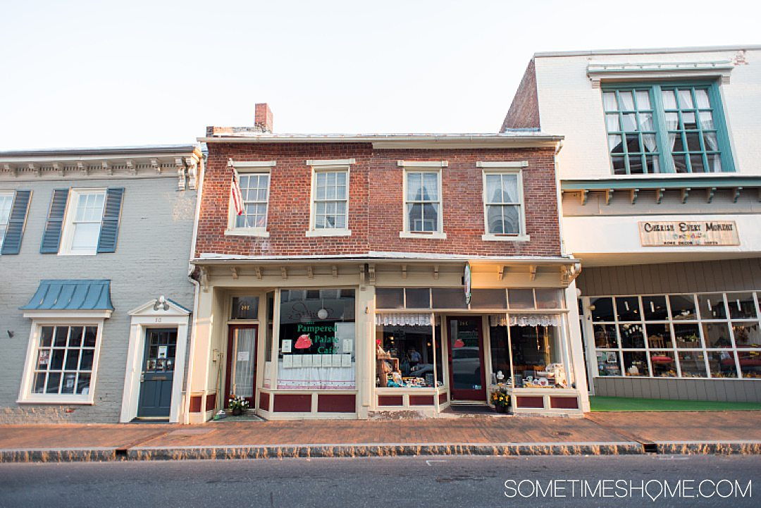 Pre-Civil War building in the main area of historic downtown Staunton, VA.