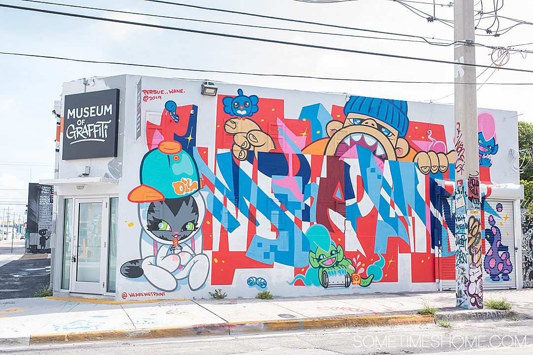 Fun things to do in Wynwood like the Graffiti Museum, on Sometimes Home travel blog. Click through for all the information on this popular neighborhood in Miami, Florida.