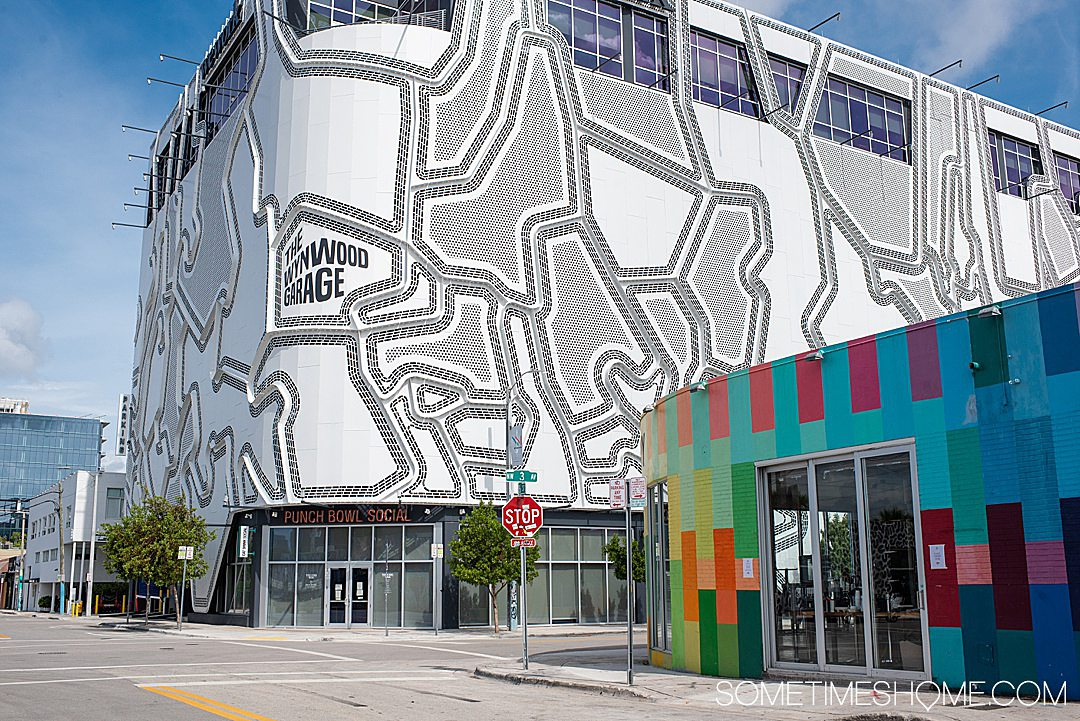In Wynwood, even the parking garage is painted like a mural. Find out all the things to do in this trendy Miami neighborhood on Sometimes Home travel site!