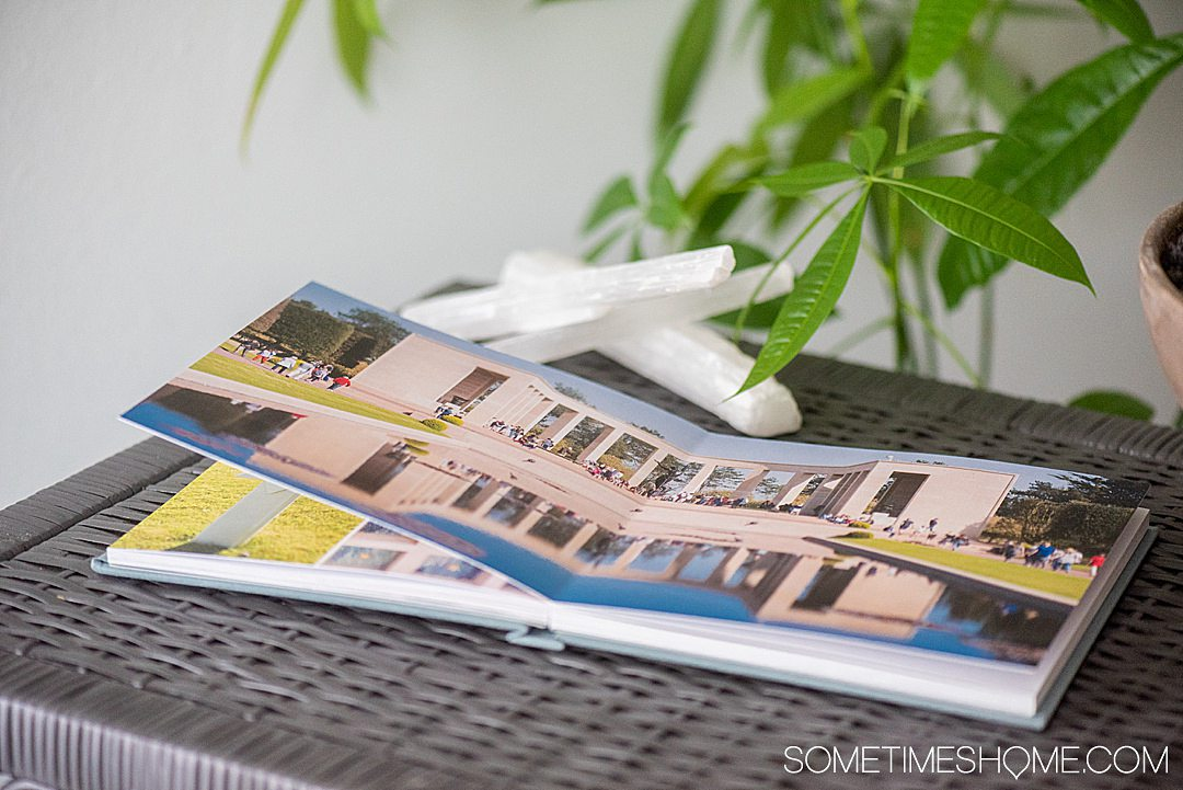 The best way to print your travel photo memories in a high end book is what we're sharing in this post on the topic. Click through to learn how to DIY and get your memories printed on Sometimes Home travel site. #travelmemories #Photobooks #vacationphotos