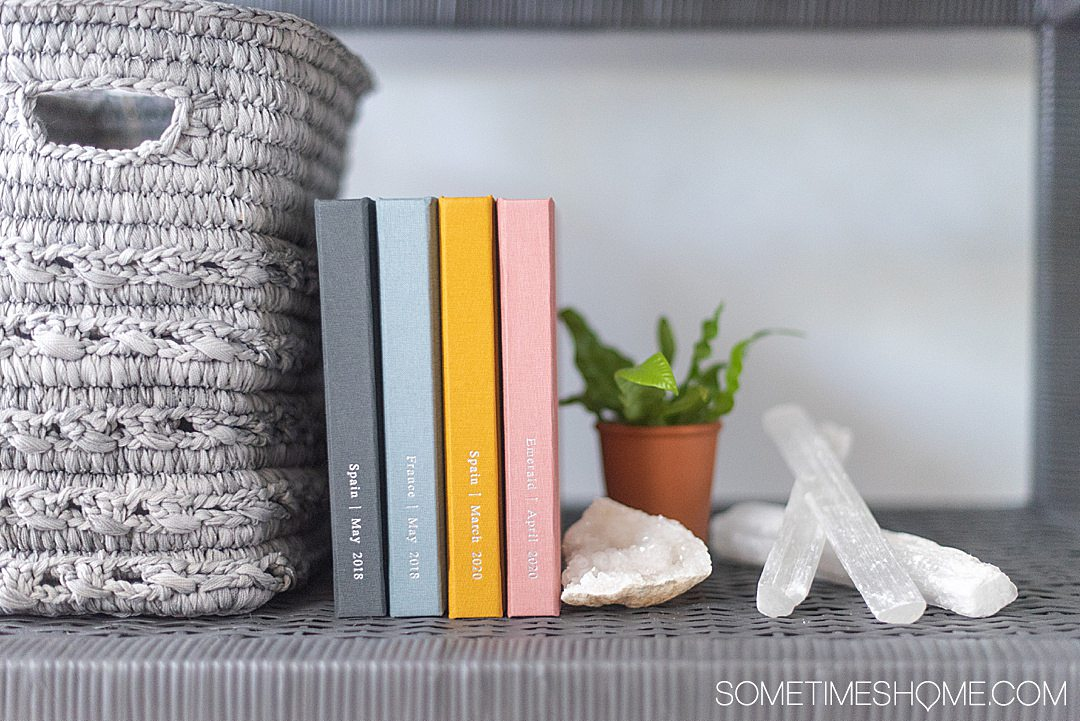 These premium quality photo books have minimal options to maximize your time and efficiency. We share the details on Sometimes Home. #photobooks #travelmemories #vacationphotos